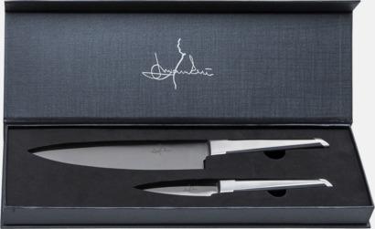 Silver / Svart Set med kock- och skalkniv från