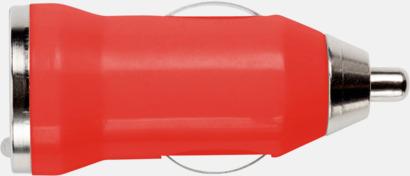 Röd Laddare för cigarettuttaget med reklamtryck
