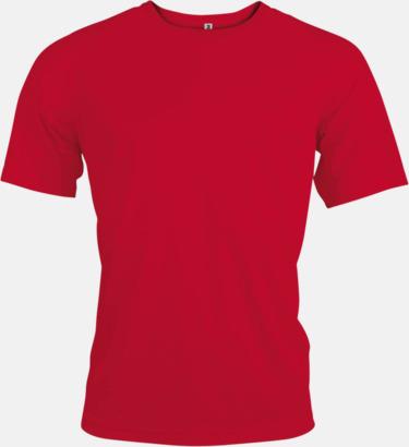 Röd Sport t-shirts i många färger för herrar - med reklamtryck