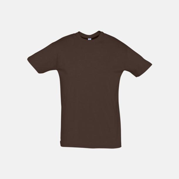 Chocolate Billiga unisex t-shirts i många färger med reklamtryck