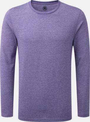 Purple Marl (herr) Färgstarka långärms t-shirts i herr-, dam och barnmodell