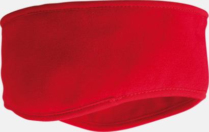 Röd Vinterpannband med eget tryck
