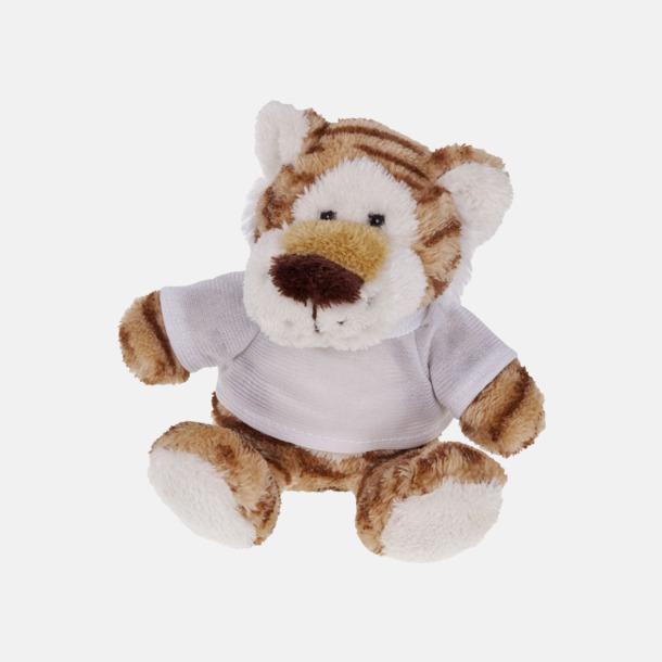 Tiger Mjukisdjur med tryckta t-shirts