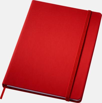 Röd (medium) Notisblock med PVC-omslag - med tryck
