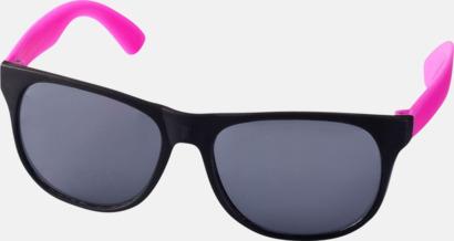 Neon Rosa Klassiska solglasögon med bågar i kontrasterande färg - med tryck