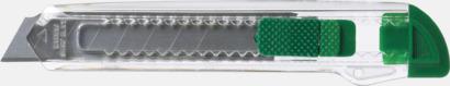 Mörkgrön / Transparent Billiga brytbladskniv med reklamtryck