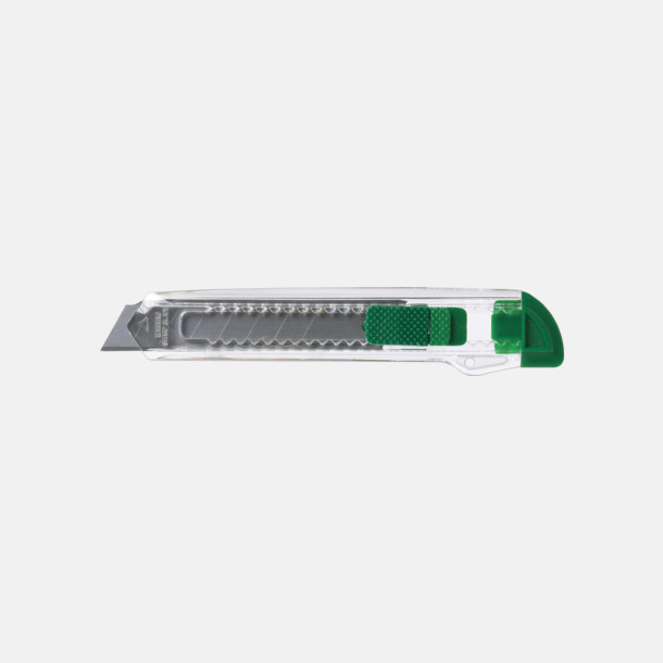 Grön Billiga brytbladskniv med reklamtryck