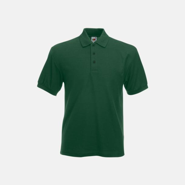 Bottle Green Pikétröjor med tryck eller brodyr