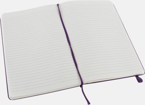 Ruled (linjerad) Moleskines stora anteckningsböcker (ca A5) med linjerade eller rutade sidor - med reklamtryck