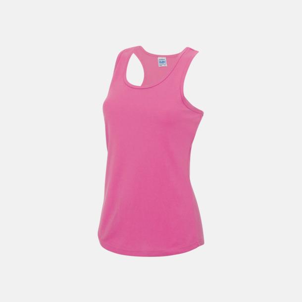 Electric Pink (dam) Enfärgade funktionslinnen i unisex-, dam & barnmodell med reklamtryck