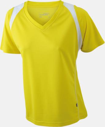 Gul/Vit Flerfärgade funktionströjor med eget tryck