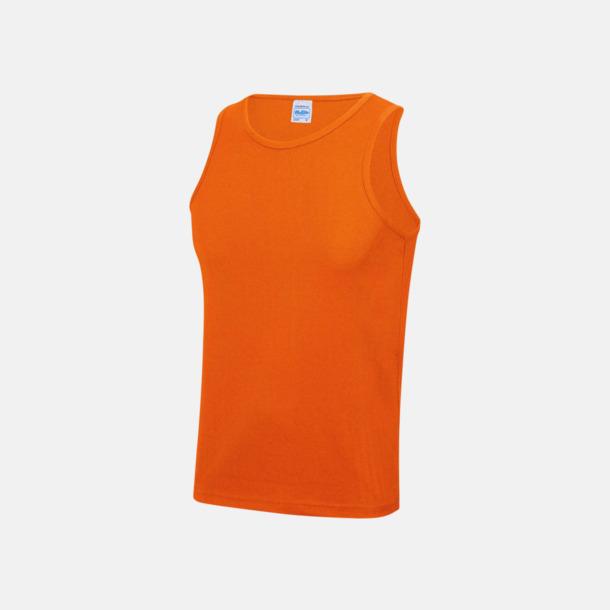 Electric Orange (unisex) Enfärgade funktionslinnen i unisex-, dam & barnmodell med reklamtryck
