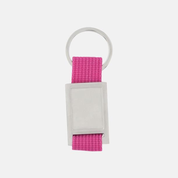 Silver / Rosa Nyckelringar som kan domningtryckas