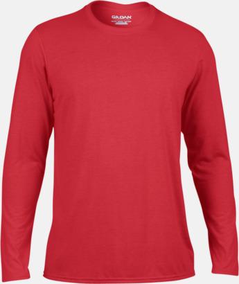 Röd (herr) Långärmade funktionströjor för vuxna och barn med reklamtryck