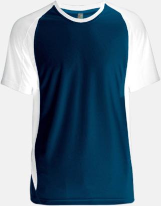 Marinblå/Vit Tvåfärgade funktionströjor för män - med reklamtryck