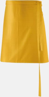 Gul (80 x 45 cm) Förkläden i 5 varianter med reklamtryck