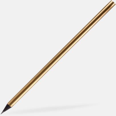Guld Guld- eller silverfärgade blyertspennor med reklamtryck
