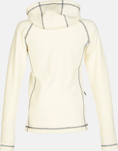 Off-White/Carbon rygg (dam) Figursydda herr- & damjackor i fleece med reklamlogo
