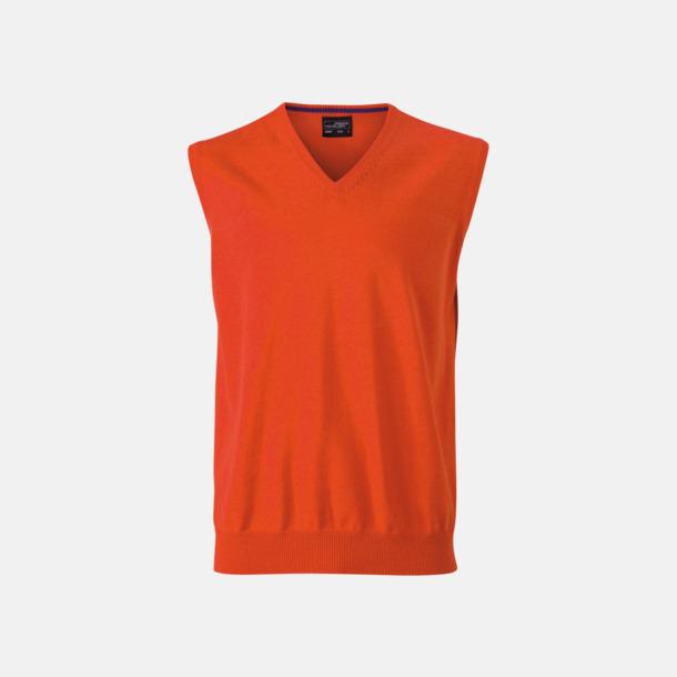 Dark Orange V-ringad pullover med eget tryck