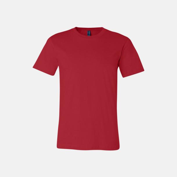 Röd T-shirts för herr och dam - med reklamtryck