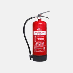 Brandsläckare med pulver- rekommenderas för villa, lägenhet och fritidshus