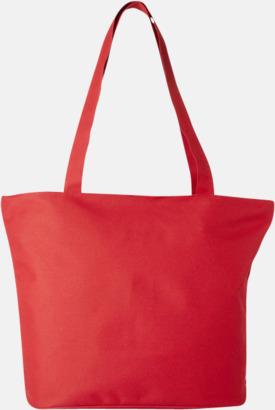 Röd Polyester tygpåsar med reklamtryck