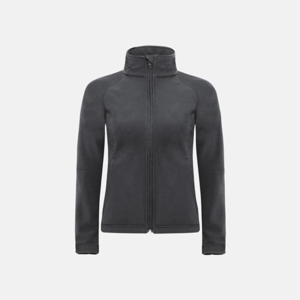 Mörkgrå (dam) Softshell-jackor för vuxna och barn - med reklamtryck