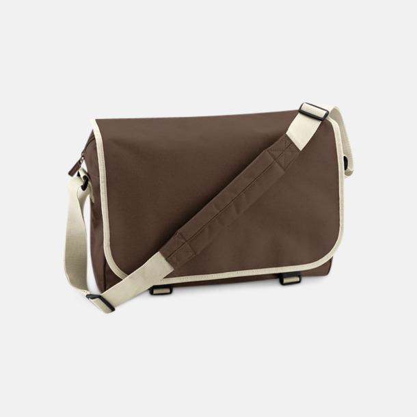 Chocolate/Sand Billiga väskor med reklamtryck