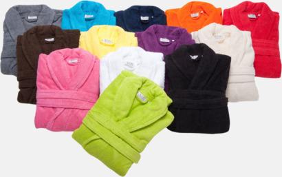 Färgglada badrockar med brodyr