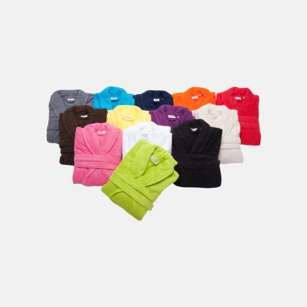 Färgglada badrockar med reklambrodyr