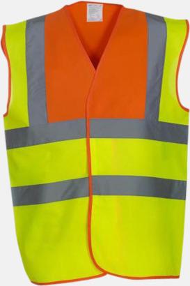 Hi-Vis Yellow/Hi-Vis Orange Färgglada säkerhetsvästar med reklamtryck