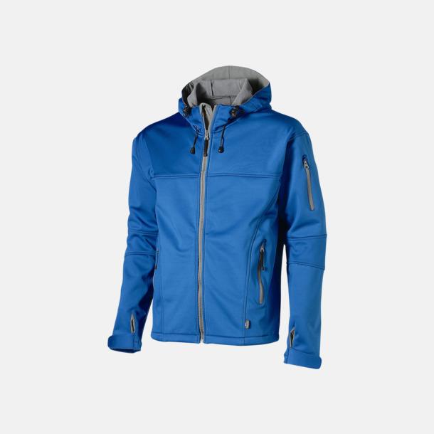 Sky Blue/Grå  solid (herr) Soft-shell-jackor i herr- & dammodell med reklamtryck