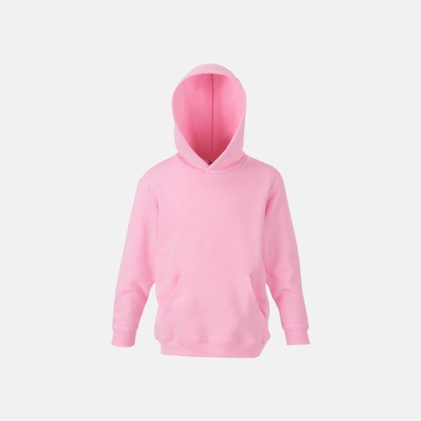 Ljusrosa Huvtröjor för barn i många färger med reklamtryck
