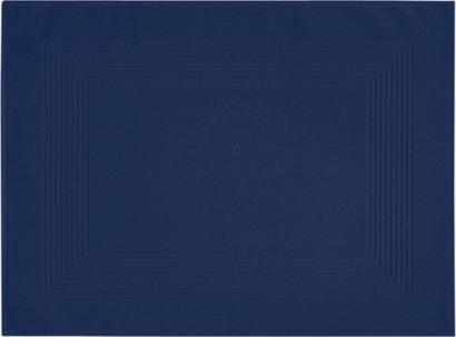 Mörkblå Fina och färggranna handduksmattor med egen brodyr