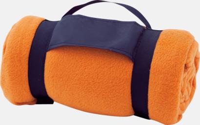 Orange Billiga fleecefiltar med tryck