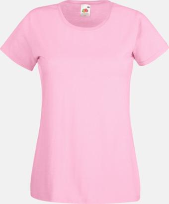 Ljusrosa Figursydd damt-shirt med reklamtryck