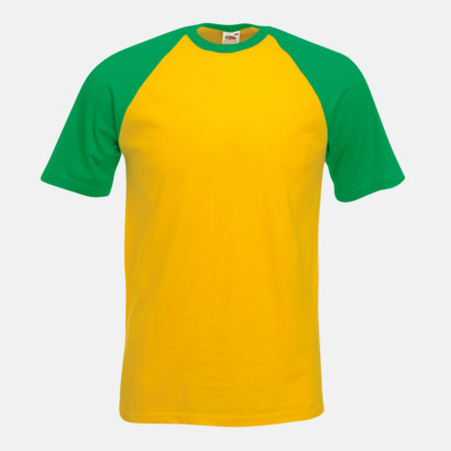 Sunflower/Kelly Green T-shirtar med reklamtryck