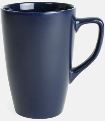Marinblå Klassiska kaffemuggar med eget tryck