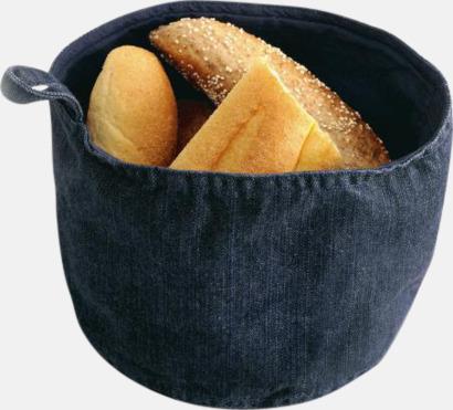 Deep Blue Denim Brödkorgar i jeans med reklamtryck