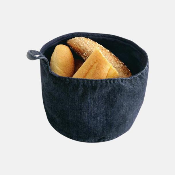 Deep Blue Denim Brödkorgar i jeans med reklamlogo