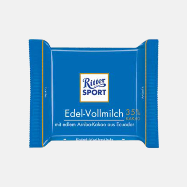 Extra fin mjölkchoklad Chokladrutor från Ritter med rekalmtryck