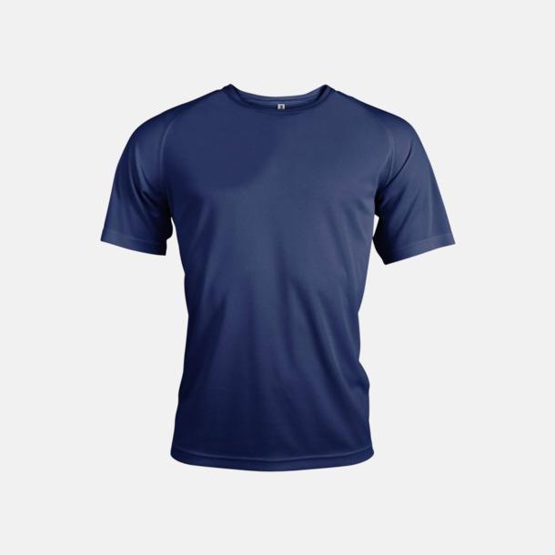 Sporty Navy Sport t-shirts i många färger för herrar - med reklamtryck