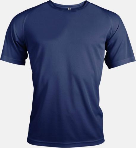 Marinblå Sport t-shirts i många färger för herrar - med reklamtryck