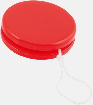 Röd Färgglada jojor i plast med reklamtryck