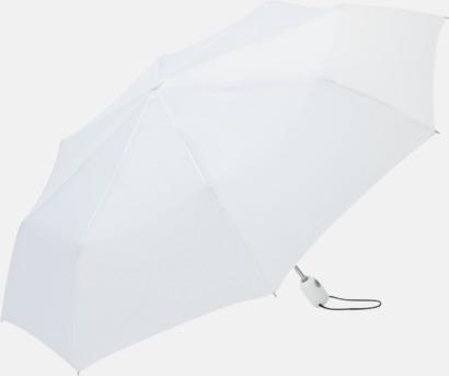Vit Kompakta paraplyer med eget tryck