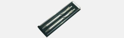 Pennask Dubbel (se tillval) Elegant metallpenna med reklamtryck