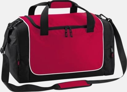 Classic Red/Svart/Vit Kompakta träningsväskor med reklamtryck