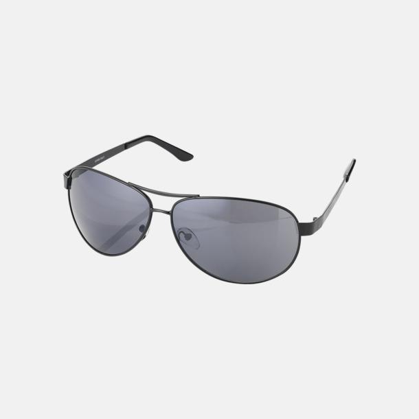 Svart Aviator solglasögon med reklamtryck