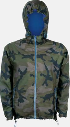 Camo/Royal Blue Vind- och vattentäta jackor med reklamtryck