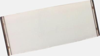 Transparent Plastbrickor med utbytbart namn - med reklamtryck